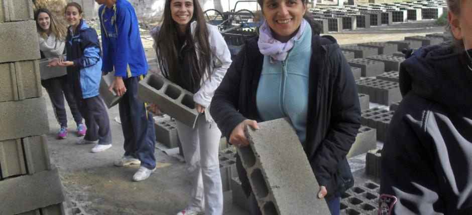 Encuentro de Jóvenes de Mercedes, Dolores, I. Crandon, Obra Ecuménica del Barrio Borro y voluntarias alemanas